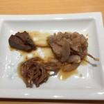 鮨 ミ雲 - 鰤の肝、胃、大網