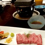 日本料理 三嵋 - 広島牛石焼きステーキ