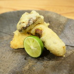 75915660 - 和製ポルチーニ(あかやまどり)天ぷらと松茸のフライ