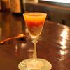 蓮 - ドリンク写真:柿のカクテル  ブランデー ベース