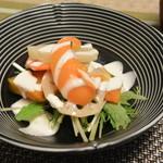 葉隠亭 - サラダ(蒸し野菜)