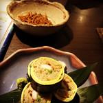 75920250 - 蕎麦寿司とお通しの揚げ蕎麦