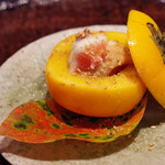 心根 - 柿、茄子、イチジクに〆鯖