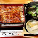 やま川 - 料理写真:うな重3,000円