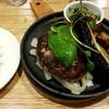 つばめグリル - 料理写真:熊本あか牛&きなこ豚の夏野菜ハンブルグステーキ:1,280円外税、ライス200円外税