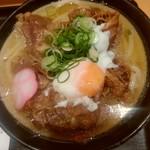 Nihombashisanukiudonhoshino - 『肉うどん(温泉玉子)』[温]