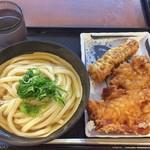 松井製麺所 - 冷やかけ + たこちくわ天 + ちき天