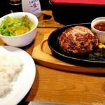 75929970 - 肉の村山ハンバーグセット200g1100円+税