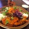 アジアごはんとスパイスカレー アドゥマン - 料理写真:3種あいがけ ・ベジタブルカレー ・和だしのきいたキーマカレー ・直火炙り豚筋カレー