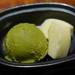 Ginzakatsura - 抹茶アイス、リンゴ