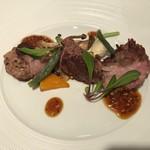 75936143 - イベリコ豚のグリエ タスマニアのマスタードソース