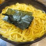 めん屋 桔梗 - 麺は熱盛りで