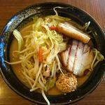 北のれん - 濃厚味噌野菜ラーメン+厚切り叉焼×2