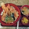 天喜 - 料理写真:ちく天えびいか天丼セット