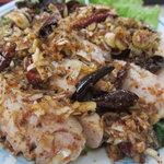 普天河 - 山椒唐辛子の蒸し鶏、特に激辛