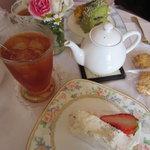 マリアサンク - ハーフ&ハーフケーキセット 1050円