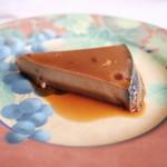 レストラン タケウチ - ほうじ茶のプディング