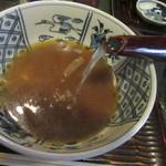 安藤 - 蕎麦湯を注ぐ
