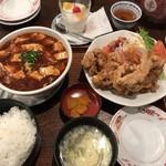75944786 - とり天と麻婆豆腐定食 1950円