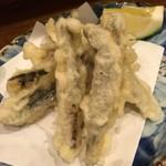 石まつ 三代目 - 小イワシの天ぷら