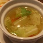 髭鬚張魯肉飯 - 野菜スープ(210円)