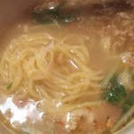 焼肉きんぐ - <期間限定>鶏白湯ラーメン 麺の状態(2017.11.04)