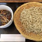 あしがら翁 - 季節蕎麦(きのこ)1240円