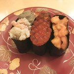 回転寿司函館まるかつ水産 - 料理写真:北海三好 670円