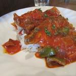 75955246 - [ランチ]イワシのトマト煮フォッロ添え