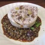 75955250 - [ランチ]ガランティーヌ(鶏の詰め物)とレンズ豆