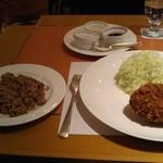 SATSUKI - Jシリアル八穀米と、下町風メンチカツです。
