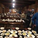 75959564 - 雲取山荘の夕食                       (3回転で食事を回します)
