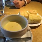 Daniel's ALBA - 2017/11 ランチ 自家製フォカッチャ&スープ
