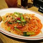 75963250 - 牡蠣と小松菜のアラビアータL