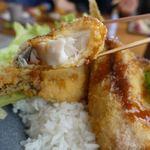 おおむろ軽食堂 - 伊東港の地魚フライ丼 1450円 + 大盛り 150円