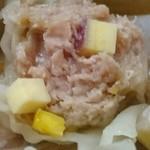 シギ チャイナ キッチン - サツマイモのシューマイに入っているサツマイモは歯応え良し