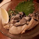 旬鮮炭火焼 獺祭 - 生牡蠣ポン酢