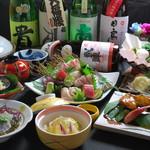 ほくろ屋 - 料理写真:忘新年会に◎旬の味覚満喫コース