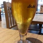 Californian Poke - 生ビールはスーパードライ500円