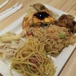 75976681 - 回鍋肉、炒飯、ペペロンチーノ、お好み焼