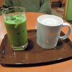 カフェ・ベローチェ - アイス抹茶ラテとミルクココア