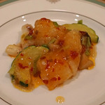 中国料理 琥珀 - 神奈川県産アオリイカの発酵唐辛子炒め