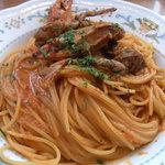 エノテーカ  イプリミ ギンザ - 渡り蟹のスパゲティ