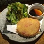 あさつき - カマンベールチーズのハムカツ