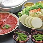 ととぎん - 料理写真:国産牛鍋コース。