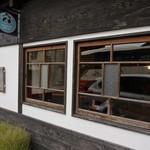 和み茶屋 - [外観] お店 玄関横 看板 & お洒落な窓ガラス