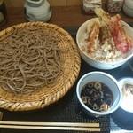手打そば まきの - 料理写真:ミニ野菜天丼セット 1,130円