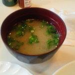 HEIWA - 味噌汁をサービスして下さいました・▽・)ノ