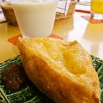 トーフカフェおおはたや - ★三春三角油揚と豆乳★