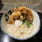 たけうちうどん店 - 料理写真:とり天生醤油うどん(温)